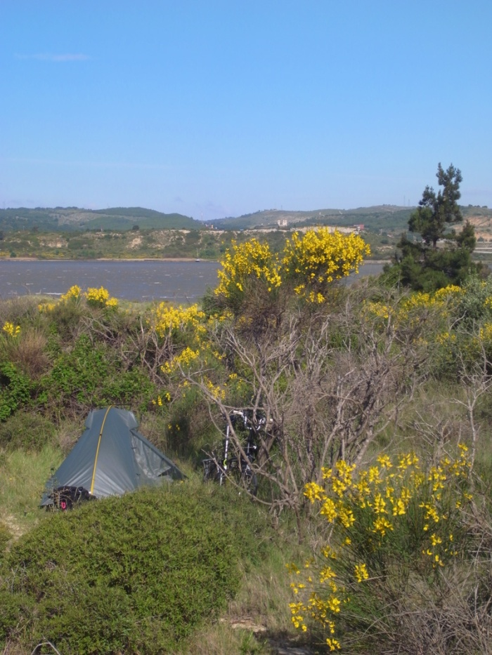 Wild camping near Narbonne
